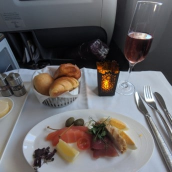 Qatar Airways 777 Business Class Flight To Doha