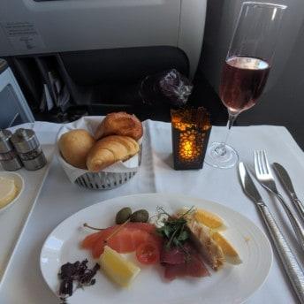 Qatar Airways 777 Business Class Flight To Doha