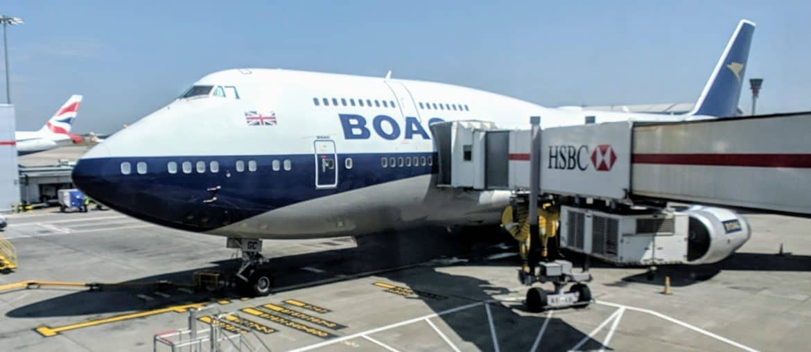 Boeing 747-400 BOAC Livery