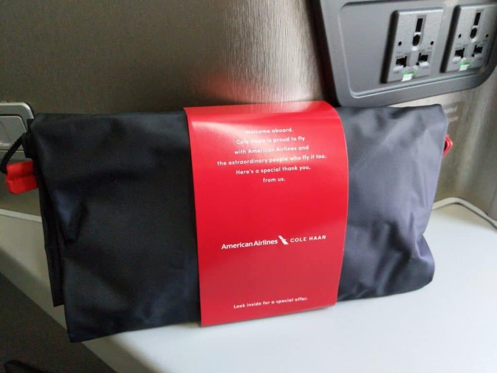 American Airlines 777-200 Business Class Cole Haan amenity kit
