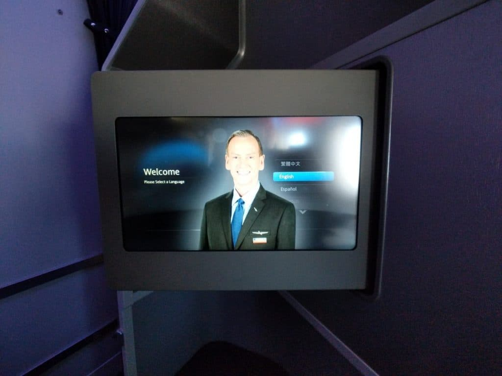 American Airlines 777-200 Business Class IFE