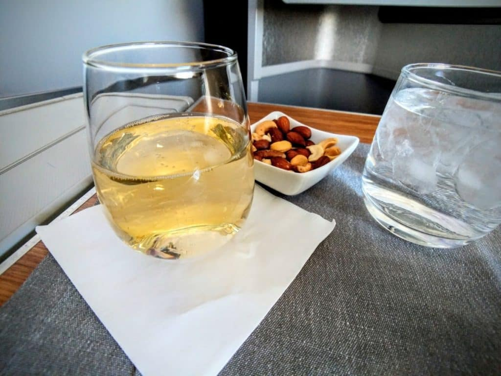 American Airlines 777-200 and a glass of champagne, as always
