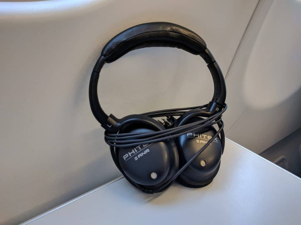 Finnair A330 Business Class headphones