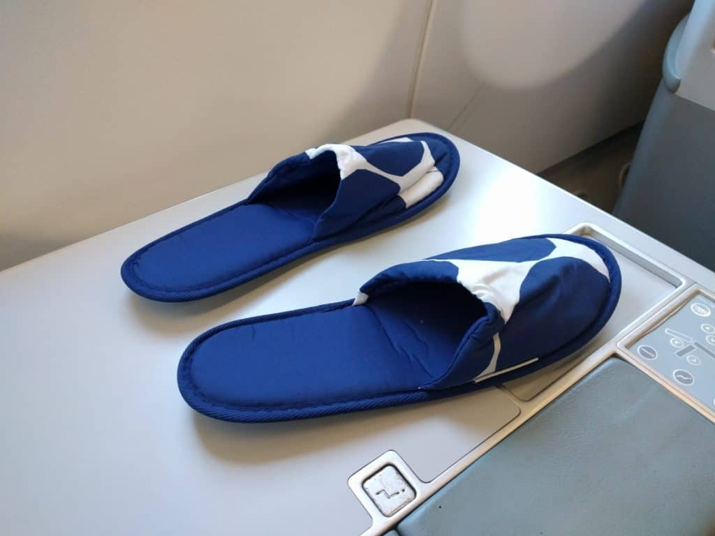 Finnair A330 Business Class slippers