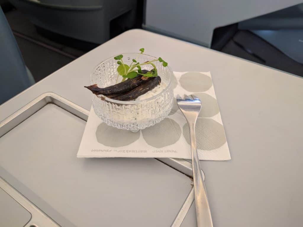 Finnair A330 Business Class Amuse Bouche