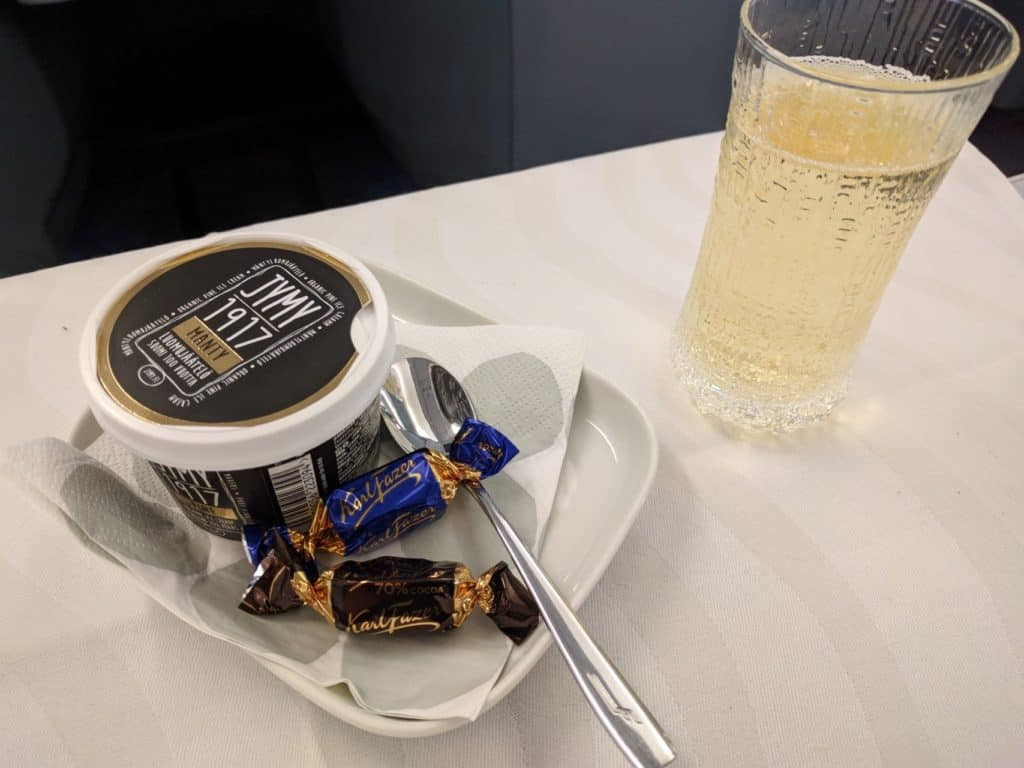 Finnair A330 Business Class Dessert