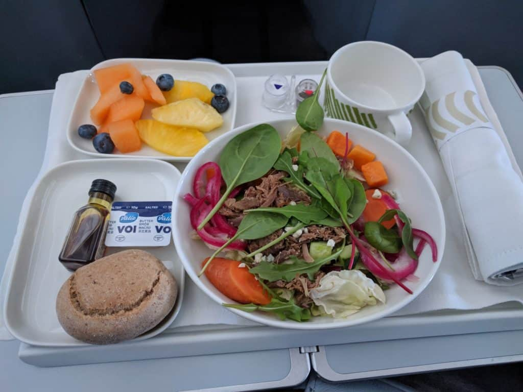Finnair A330 business class light lunch