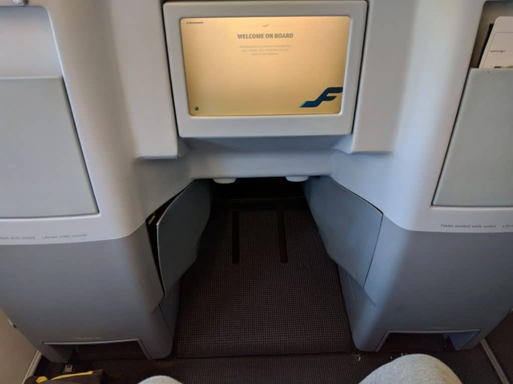 Finnair A330 Business Class foot space