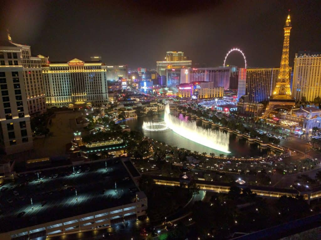 The Cosmopolitan by night