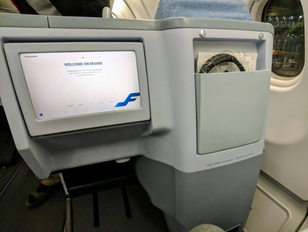 Finnair A330 Business Class In-Flight Entertainment System