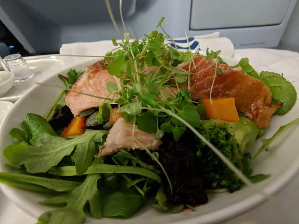 Finnair A330 Business Class Main Course
