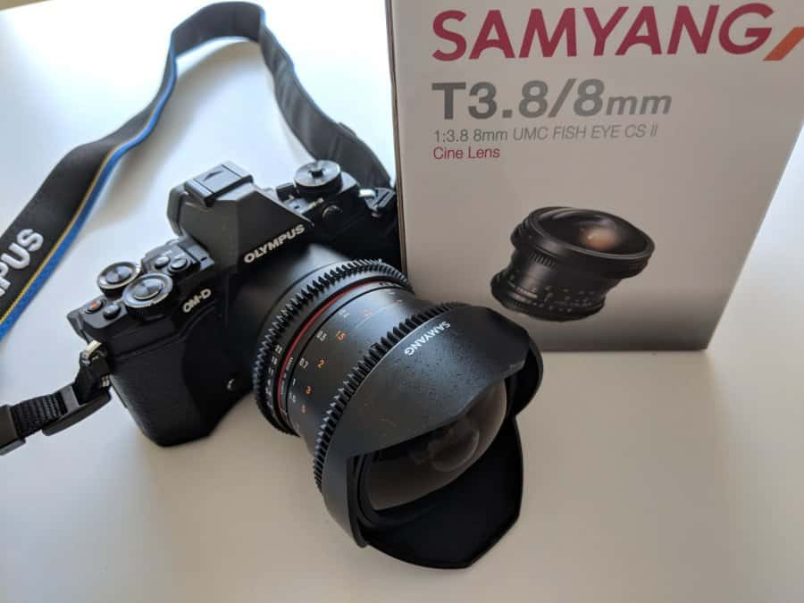 Samyang 8mm T3.8 Fisheye lens