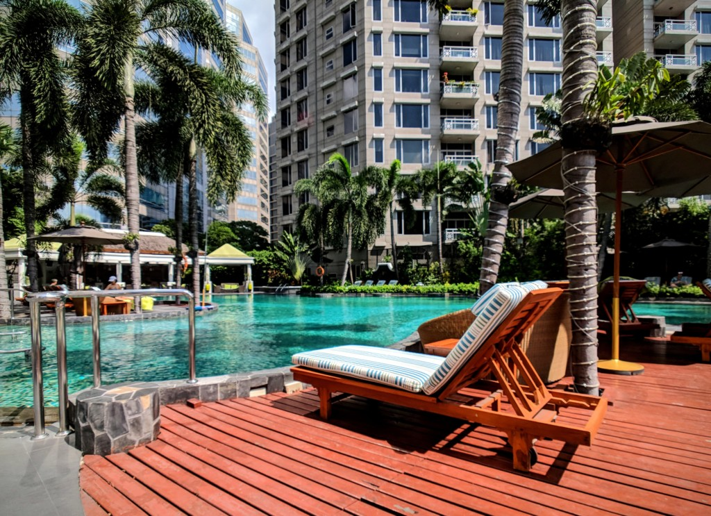 View of Conrad Bangkok pool area