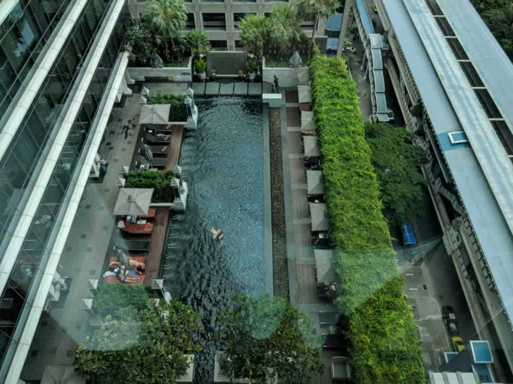 The pool area of St.Regis Bangkok