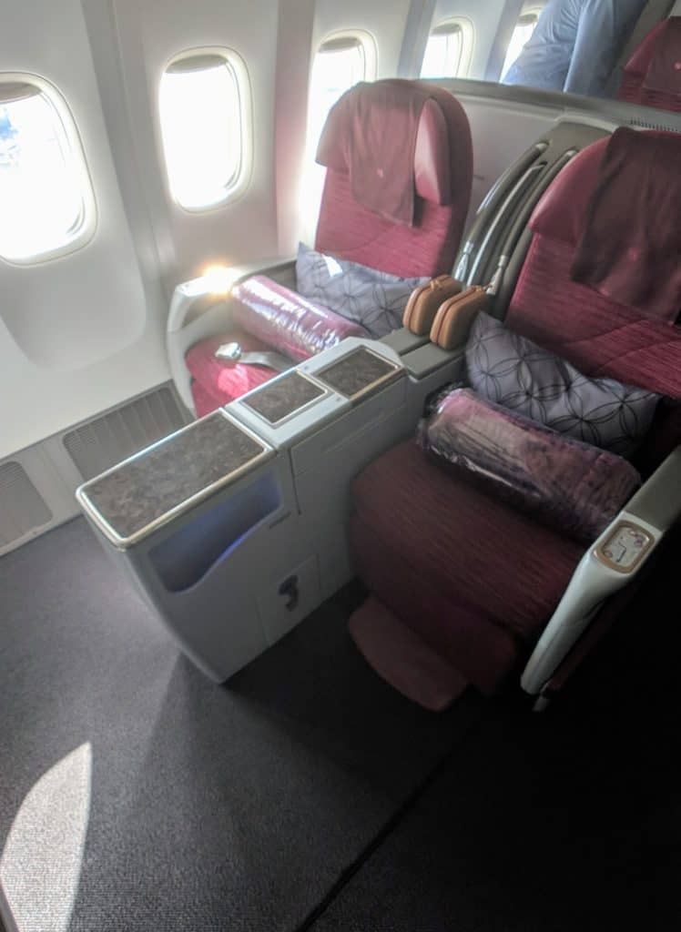 2019 Qatar Airways 777 Business Class Review 009