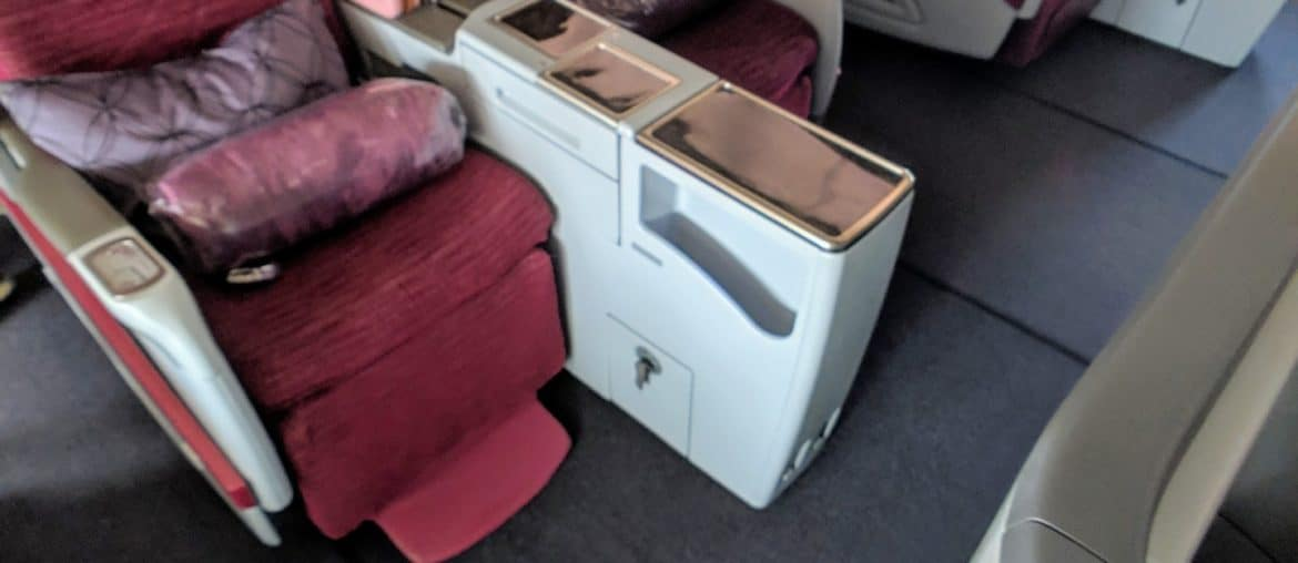 2019 Qatar Airways 777 Business Class Review 015