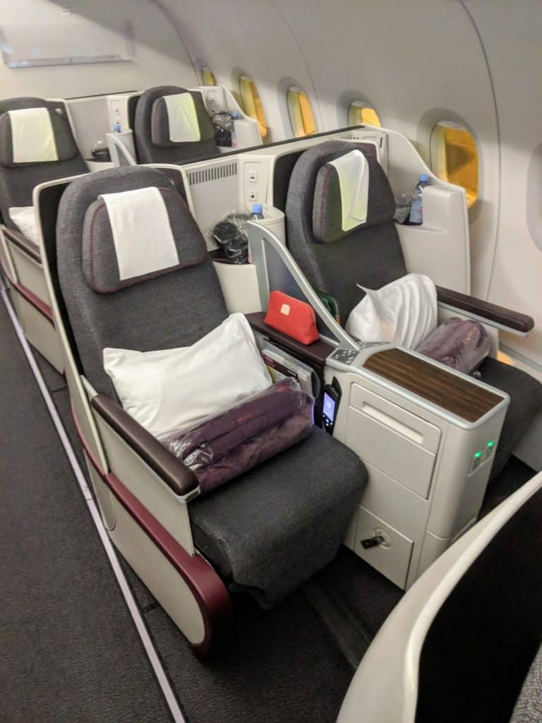 2019 Qatar Airways A320 Business Class Review 011