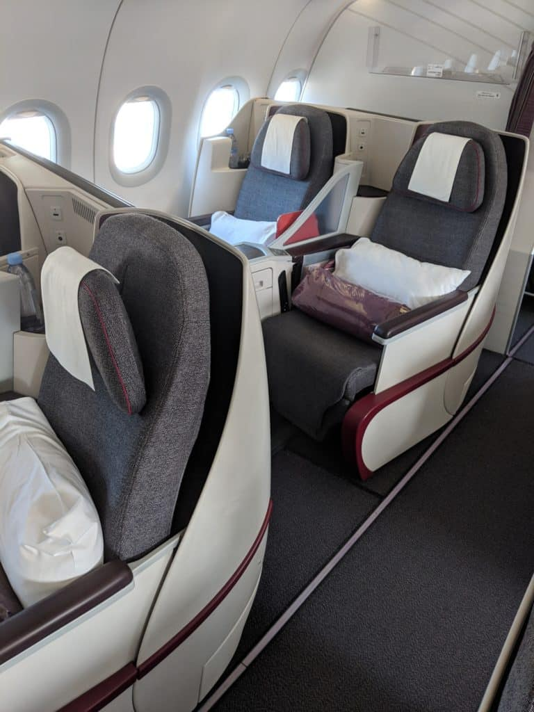 2019 Qatar Airways A320 Business Class Review 018