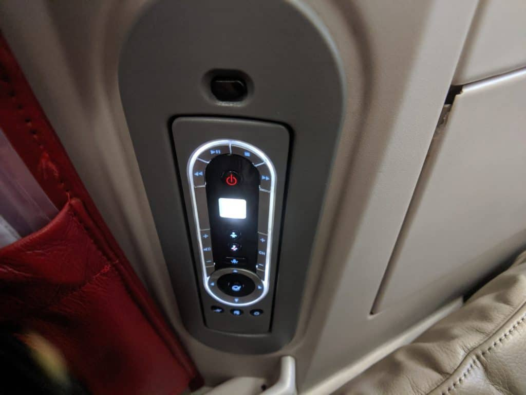 Royal Jordanian 787 Business Class remote controller