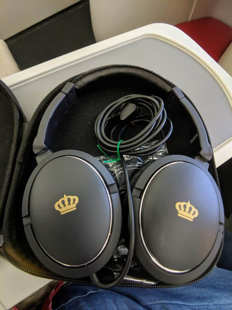 Royal Jordanian 787 Business Class Headphones