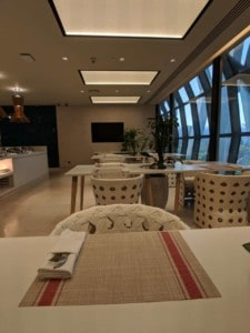 Qatar Airways Business Class Lounge in Bangkok