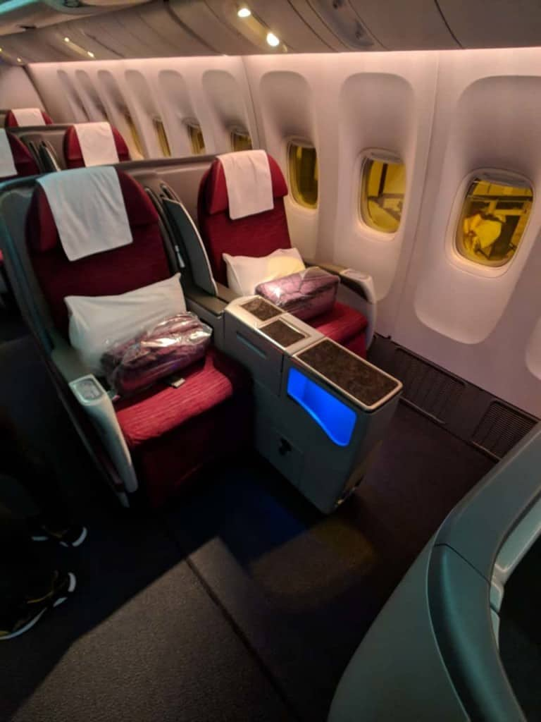 Qatar Airways 777 Bangkok to Doha - Business Class