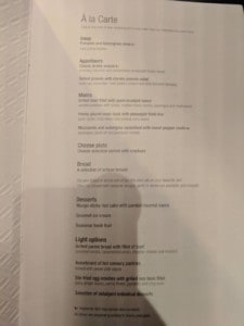Qatar Airways 777 Bangkok to Doha - Business Class Drink Menu