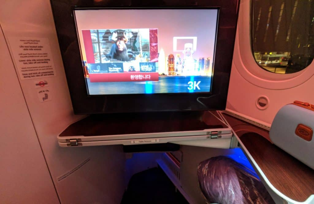 2018 Qatar Airways Business Class 787 Hel Doh 0022