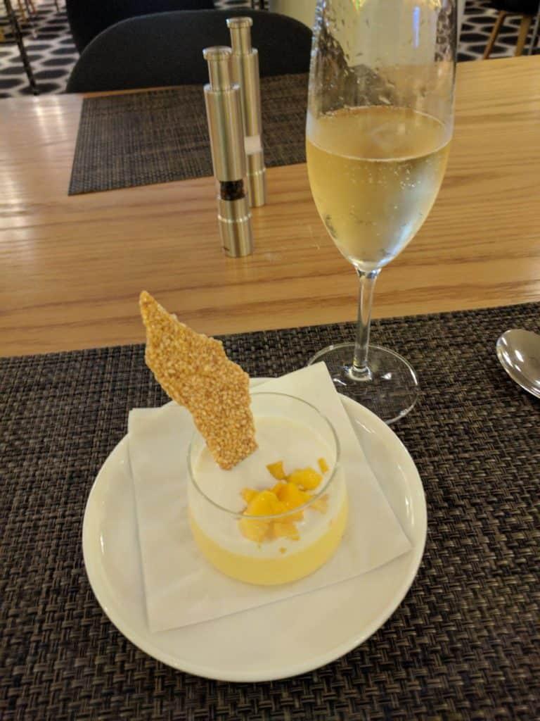 Qantas First Class Lax Dessert