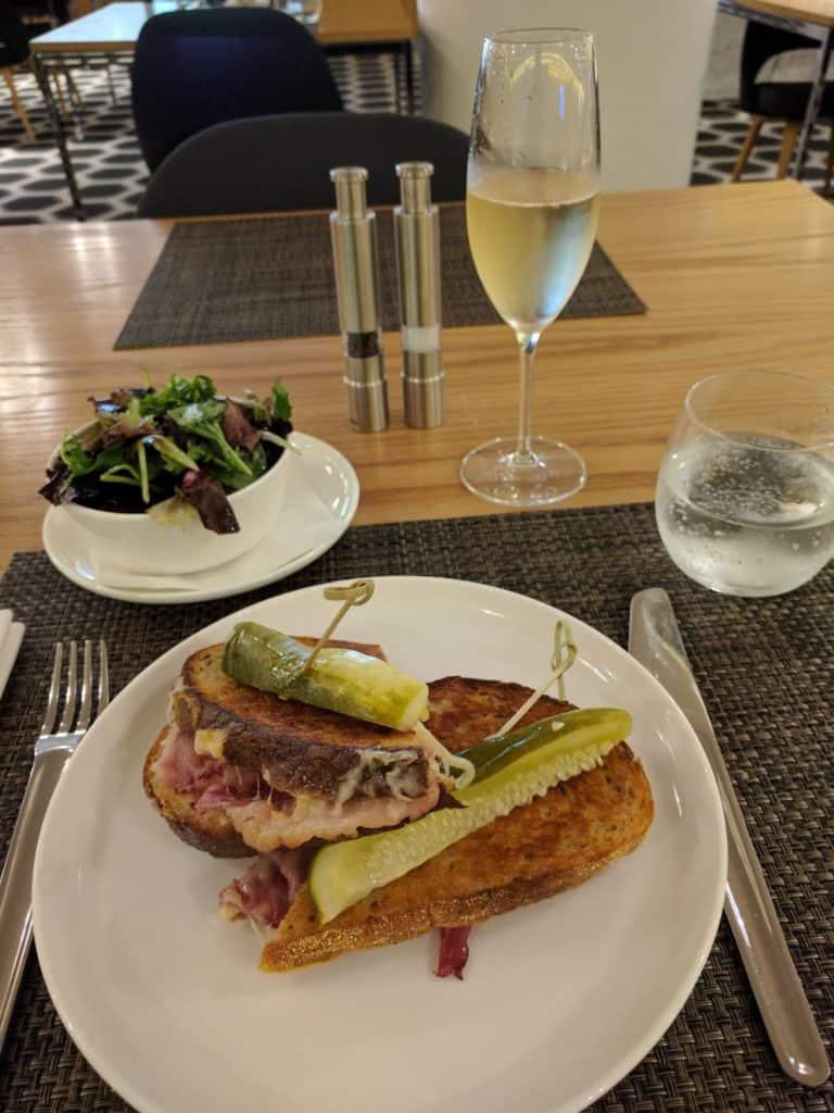 Qantas First Class Lax Dinner