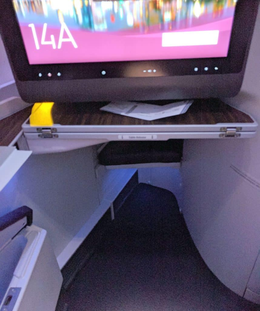 Qatar Airways Foot Space