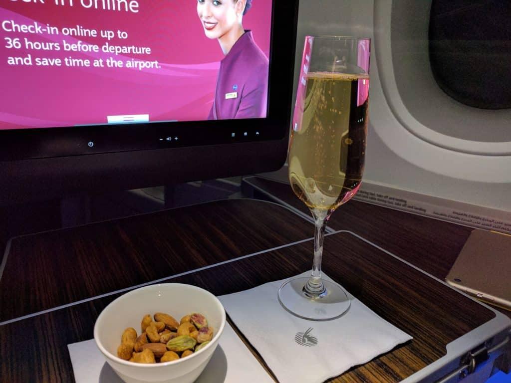 Qatar Airways Nuts Champagne